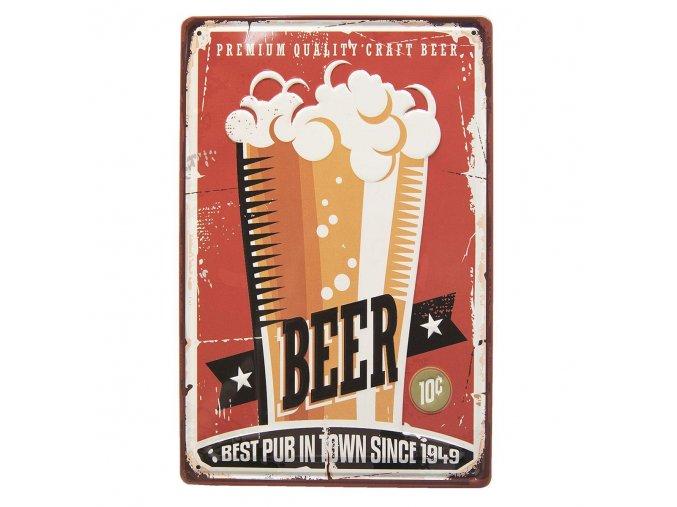 plechova cedulka Beer