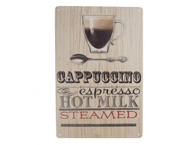 plechova cedule Cappuccino