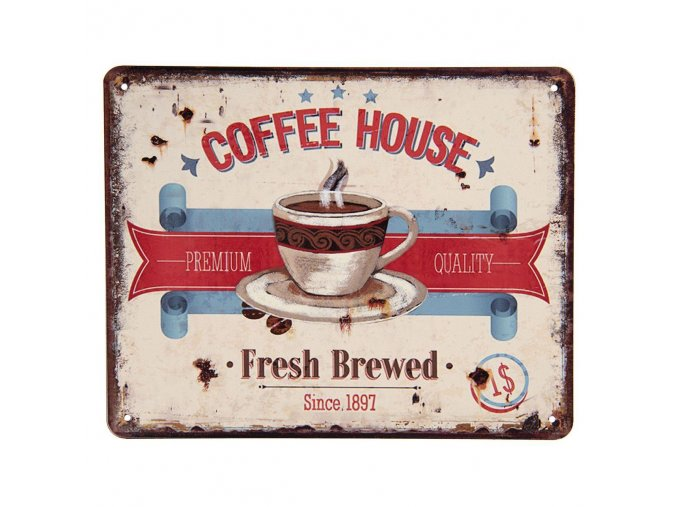 plechova cedule Coffee House