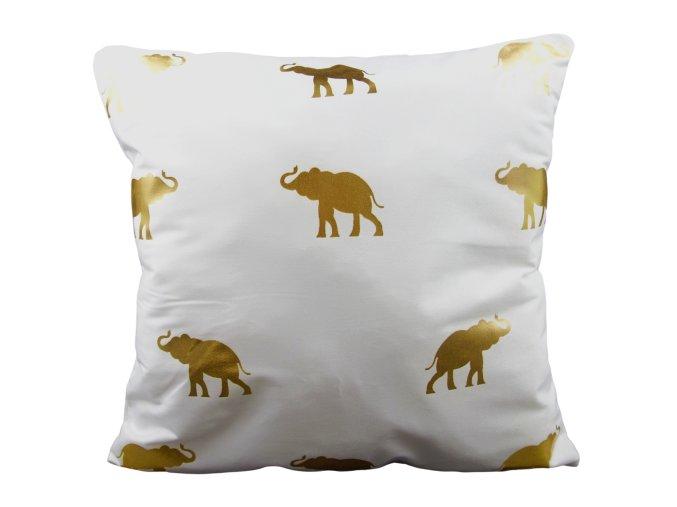 povlak na polštář potisk slona