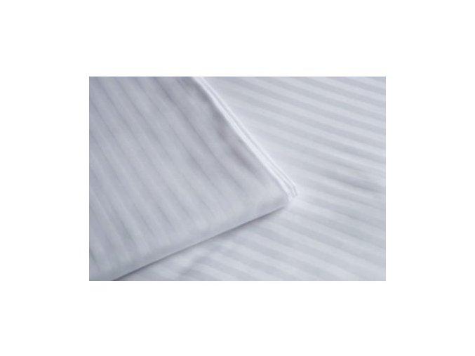 Povlak na peřinu 140x200 cm, 210tc, 1 cm proužek, bílá, hotelová obálka