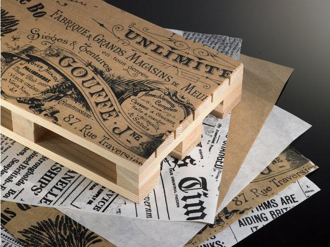 Servírovací papír odolný vůči mastnostě motiv - vintage