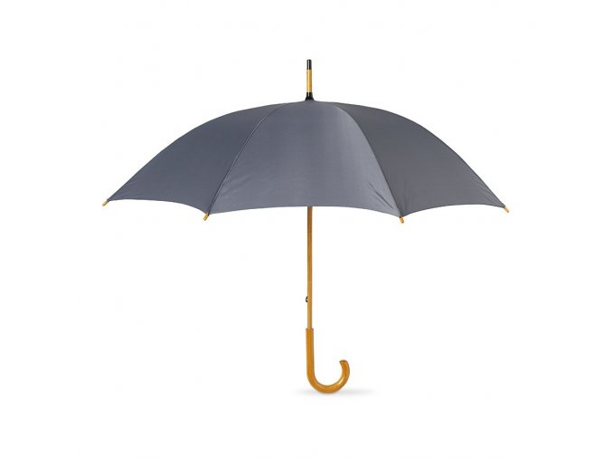 Deštník manuální šedý