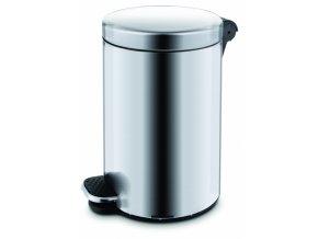 Pedálový koš 5l - stříbrný, matný