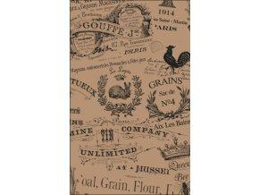 Papírové prostírání v retro stylu 40 x 32,5 cm, hnědá