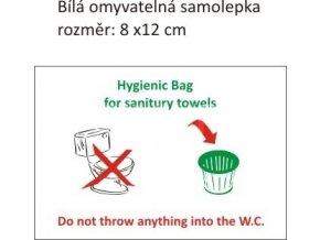 Samolepka laminovaná - WC upozornění