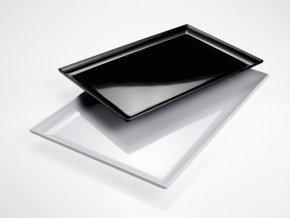 Tác melaminový velký, černá barva
