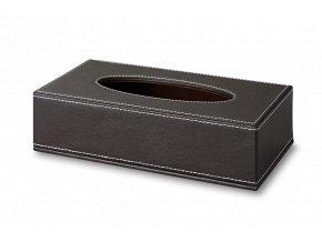 Zásobník na kosmetické kapesníčky Exclusive, tmavě hnědý