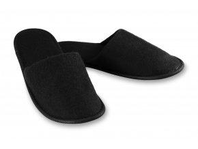 """Hotelové pantofle se zavřenou špičkou """"Soft"""", černé"""