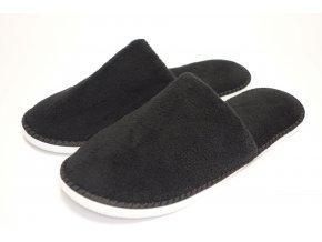 pánské pantofle, černé