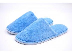 pánské modré zavřené pantofle