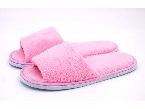 Růžové otevřené pantofle