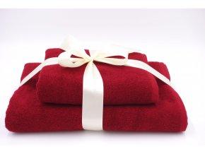 Dárkový set ručník + osuška vínová Exclusive 550 g/m2