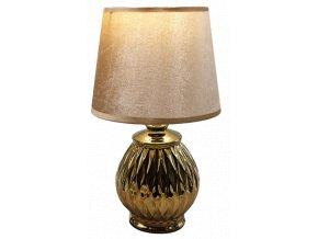 zlatá stolní lampa 2