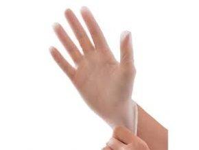 transparentní hygienické rukavice