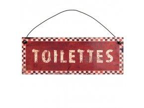 plechova cedulka Toilettes