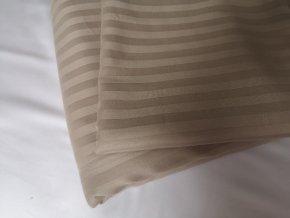 Exclusive povlak  na peřinu hnědozlatá -damašek
