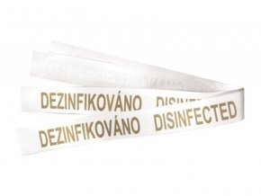 "Páska na WC ""dezinfikováno"" - zlatý tisk"