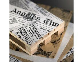 Servírovací papír odolný vůči mastnotě - motiv novin
