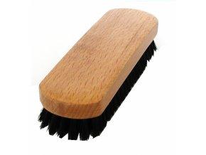 Kartáč na boty s tmavým vlasem, dřevěný