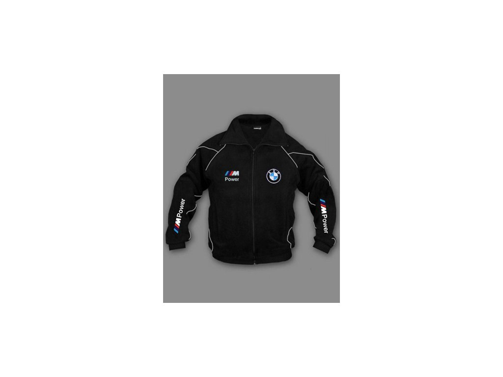 BMW ///M čierna flísová bunda