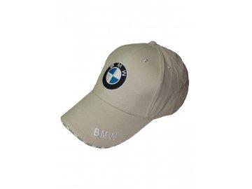 BMW béžová šiltovka