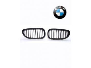 BMW 5 E60, E61 čierne ľadvinky (predná maska)