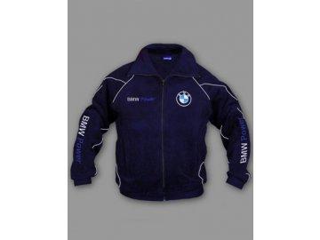 BMW tmavo modrá flísová bunda