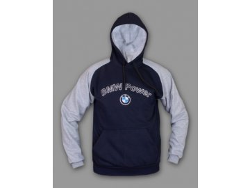 BMW modro-sivá mikina
