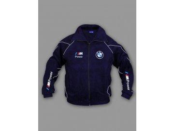 BMW ///M tmavo modrá flísová bunda