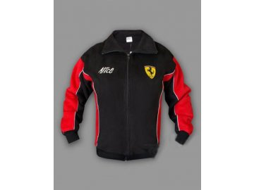 Ferrari čierna flísová bunda