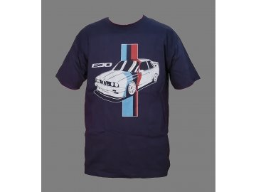 BMW M3 E30 Tshirt 2 navy blue front Final