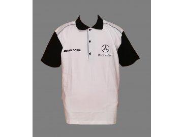 Merceddes AMG White Black Polo front Final