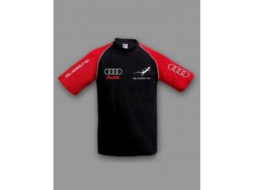 Audi Quattro čierno-červené tričko
