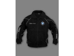 BMW čierna flísová bunda