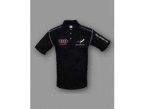 Audi Quattro čierna polokošela