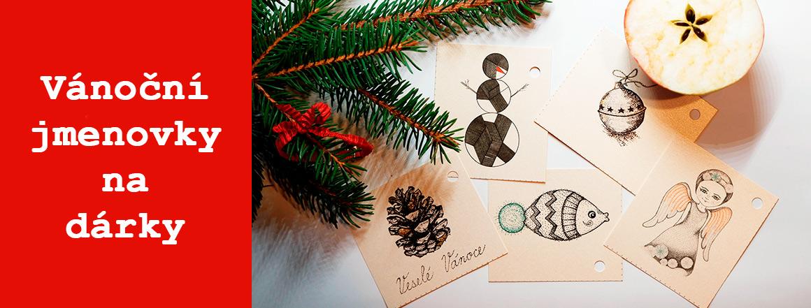 Vánoční jmenovky na dárky