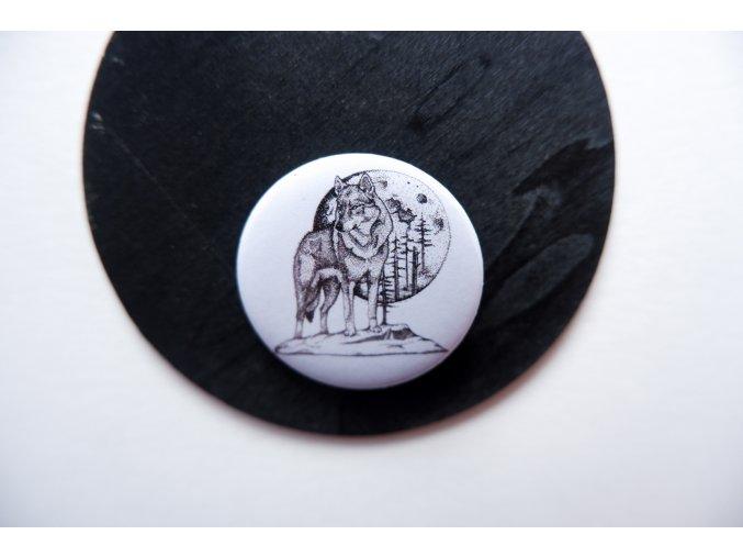 Placka s potiskem vlka