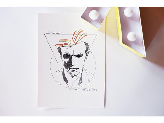 Pohlednice David Bowie