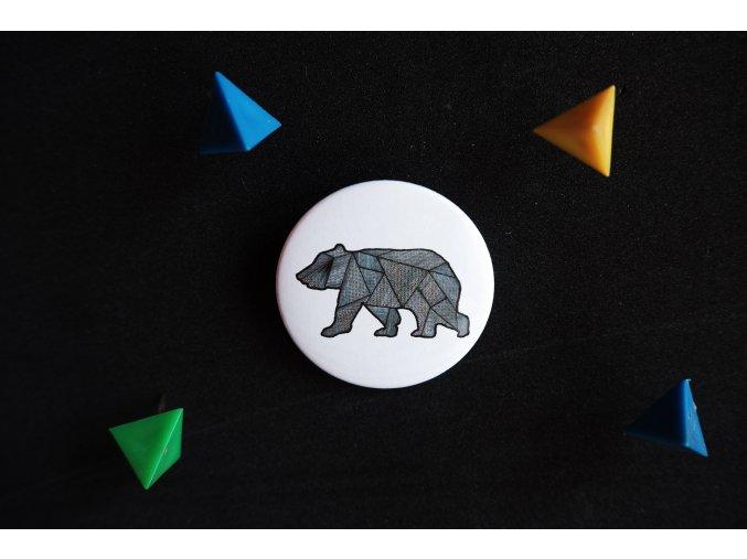 Placka s potiskem Medvěd