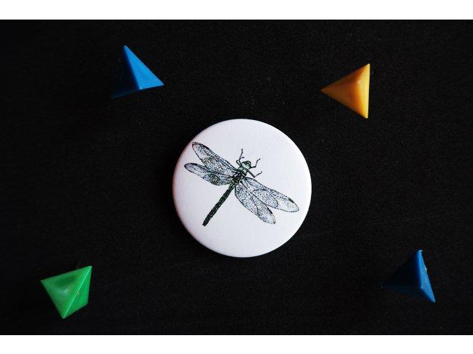 Placka s potiskem Vážka