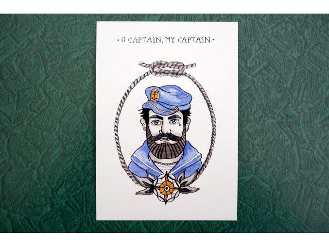 Kapitán - pohlednice
