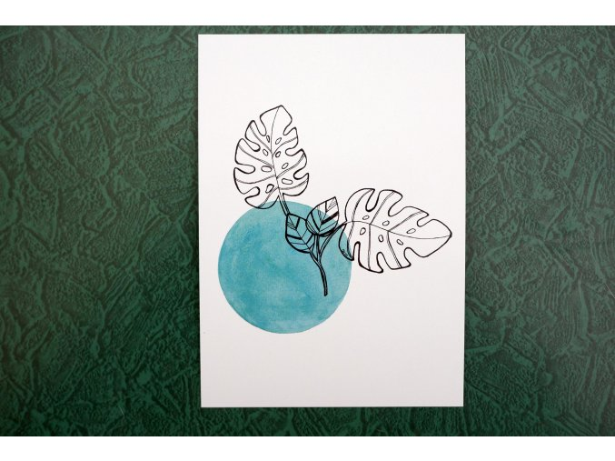 Listy monstery pohlednice