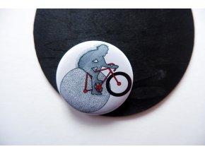 Placka s potiskem - Cyklista
