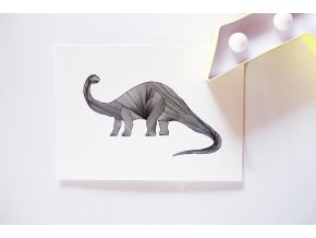 Pohlednice Brontosaurus