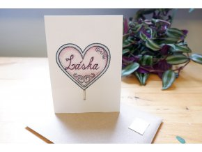 Obrázek, pohlednice - Srdce z lásky