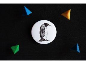 Placka s potiskem Tučňák