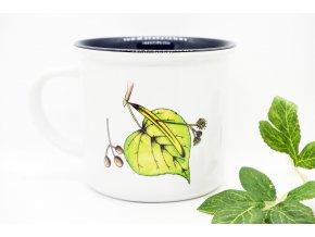Keramický hrnek imitace smalt Lipový čaj