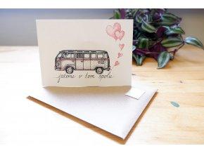 Jedeme v tom spolu - Obrázek, pohlednice