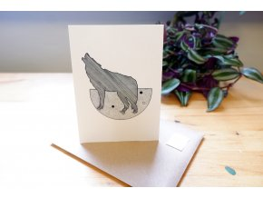 Obrázek, pohlednice - Vlk